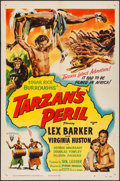 "Movie Posters:Adventure, Tarzan's Peril & Other Lot (RKO, 1951). One Sheets (2) (27"" X41""). Adventure.. ... (Total: 2 Items)"