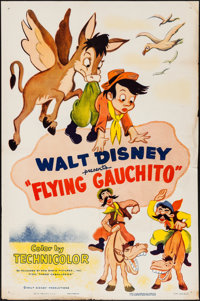 "The Flying Gauchito (RKO, R-1955). One Sheet (27"" X 41""). Animation"