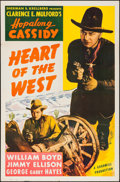 """Movie Posters:Western, Heart of the West (Goodwill Pictures, R-1946). One Sheet (27"""" X 41""""). Western.. ..."""