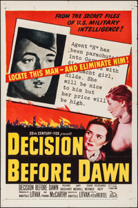 "Decision Before Dawn & Other Lot (20th Century Fox, 1951). One Sheets (2) (27"" X 41""). War. ... (Total..."