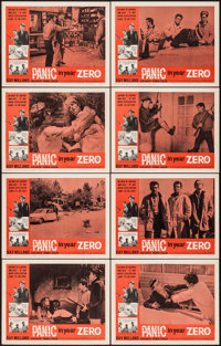"Panic in Year Zero (American International, 1962). Lobby Card Set of 8 (11"" X 14""). Science Fiction. ... (Tota..."