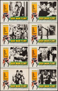 "Movie Posters:Adventure, Our Man Flint (20th Century Fox, 1966). Lobby Card Set of 8 (11"" X14""). Adventure.. ... (Total: 8 Items)"