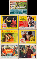 "Movie Posters:Adventure, Prince of Foxes & Others Lot (20th Century Fox, 1949). Title Lobby Cards (4) & Lobby Cards (8) (11"" X 14""). Adventure.. ... (Total: 12 Items)"