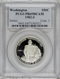 Modern Issues: , 1982-S S50C Washington Silver Half Dollar PR69 Deep Cameo PCGS.PCGS Population (6611/32). NGC Census: (183/0). Mintage: 4,...