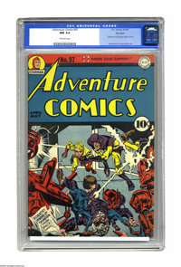 Adventure Comics #97 Big Apple pedigree (DC, 1945) CGC NM 9.4 Off-white pages. A Simon and Kirby cover adorns this issue...