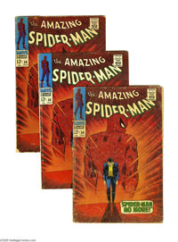 The Amazing Spider-Man #50 Multiple Copies (Marvel, 1967). This four-issue group lot features four copies of issue #50...
