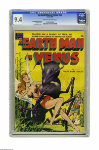 An Earth Man on Venus #nn (Avon, 1951) CGC NM 9.4 Off-white to white pages. Man vs. giant insects was a popular theme of...
