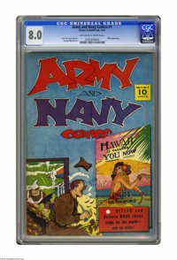 Army and Navy Comics #1 (Street & Smith, 1941) CGC VF 8.0 Off-white pages. Cap Fury and Nick Carter appear. Hitler a...