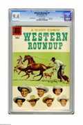 Silver Age (1956-1969):Western, Dell Giant Comics Western Roundup #17 File Copy (Dell, 1957) CGC NM9.4 Off-white pages. Photo cover. Russ Manning art. Over...