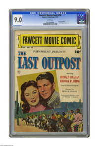 "Fawcett Movie Comic #14 (Fawcett, 1951) CGC VF/NM 9.0 White pages. Features ""The Last Outpost."" Ronald Reagan..."