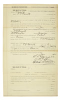 Autographs:Celebrities, Pat Garrett: Signed Court Document...