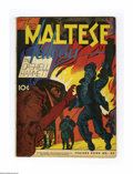 Golden Age (1938-1955):Crime, Feature Books #48 The Maltese Falcon -- Double Cover (David McKay, 1946). Based on the novel by Dashiell Hammett. First cove...