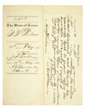Autographs:Celebrities, John King Fisher: Signed Arrest Warrant, 1884...
