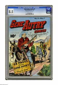 Gene Autry Comics #8 (Fawcett, 1943) CGC VF+ 8.5 Off-white to white pages. Overstreet 2005 VF 8.0 value = $531; VF/NM 9...