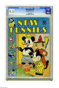 Golden Age (1938-1955):Funny Animal, New Funnies #69 File Copy (Dell, 1942) CGC NM- 9.2 Cream tooff-white pages. Features two pages of Walt Kelly art. The Brown...