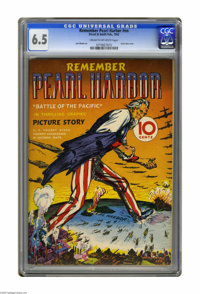 Remember Pearl Harbor #nn (Street & Smith, 1942) CGC FN+ 6.5 Cream to off-white pages. Uncle Sam looms large on this...