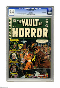 Vault of Horror #20 Gaines File pedigree 2/12 (EC, 1951) CGC NM+ 9.6 White pages. Johnny Craig drew this issue's cover a...