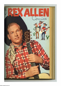 Rex Allen Comics #2-13 Bound Volume (Dell, 1951-54). These are Western Publishing file copies that have been trimmed and...