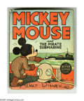 Golden Age (1938-1955):Cartoon Character, Better Little Book #1463 Mickey Mouse and the Pirate Submarine (Whitman, 1939) Condition: VF+. Hard cover, 432 pages. Writte...