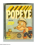 Golden Age (1938-1955):Miscellaneous, Big Little Book #1405 Popeye and the Jeep (Whitman, 1937) Condition: FN/VF. Hard cover, 432 pages. Written and illustrated b...
