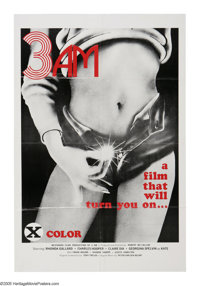 """3 A.M. (Westwood, 1975). One Sheet (27"""" X 41""""). X-rated fare from the 1970's. Heavy fold lines, one edge tear..."""
