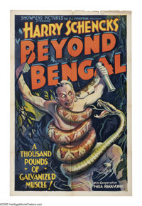 """Beyond Bengal (Showmens Pictures, 1934). One Sheet (27"""" X 41""""). Filmed in the remote jungles of the Malayan Pe..."""