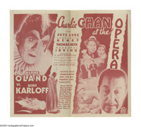 """Charlie Chan at the Opera (20th Century Fox, 1936). Herald (4.5"""" X 8""""). Considered by many to be the best of t..."""