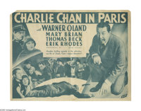 """Charlie Chan in Paris (Fox, 1935). Herald (9"""" X 6""""). Charlie Chan, """"on vacation"""" in Paris, investiga..."""