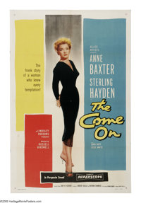 "The Come On (Allied Artists, 1956). One Sheet (27"" X 41""). Anne Baxter is a manipulative femme fatale who pits..."