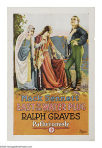 """East of the Water Plug (Pathe', 1924). One Sheet (27"""" X 41""""). Offered here is a gorgeous stone litho one sheet..."""