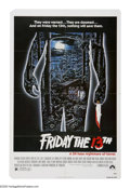 """Movie Posters:Horror, Friday the 13th (Paramount, 1980). One Sheet (27"""" X 41""""). Camp Crystal Lake is still haunted by the murders that happened th..."""