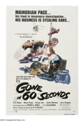"""Movie Posters:Action, Gone in 60 Seconds (New City Releasing, 1974). One Sheet (27"""" X 41""""). H.B. Halicki, the auteur of automobiles, wrote, produc..."""