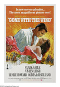 "Movie Posters:Academy Award Winner, Gone With the Wind (MGM, R-1974). One Sheet (27"" X 41""). Accordingto legend, MGM did an extensive survey to determine who m..."