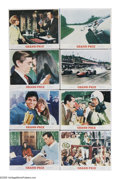"Movie Posters:Sports, Grand Prix (MGM, 1967). Lobby Card Set of 8 (11"" X 14""). ""To do something that brings you so close to the possibility of dea... (Total: 8 Items)"