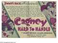 "Movie Posters:Comedy, Hard To Handle (Warner Brothers, 1933). Herald (4.5"" X 6""). A James Cagney showcase film made after his success in ""Public E..."