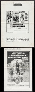 """Movie Posters:James Bond, Thunderball & Others Lot (United Artists, 1965). Uncut Pressbooks (2) (Multiple Pages, 11"""" X 17"""" & 13.25"""" X 18"""") Frank McCar... (Total: 3 Items)"""