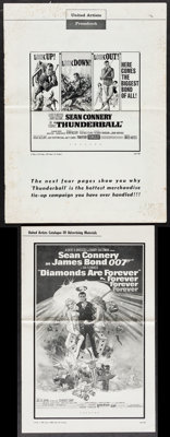 """Thunderball & Other Lot (United Artists, 1965). Uncut Pressbooks (2) (Multiple Pages, 11"""" X 17"""" & 13.2..."""