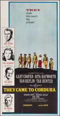 "Movie Posters:War, They Came to Cordura (Columbia, 1959). Three Sheet (41"" X 79""). War.. ..."
