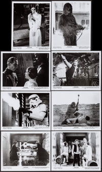 """Star Wars (20th Century Fox, 1977). Photos (18) (8"""" X 10""""), & Production Information Notes (3) (Multiple P..."""