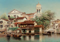 Fine Art - Painting, American, Henry Pember Smith (American, 1854-1907). Venice, circa1890. Oil on canvas. 25 x 35-1/2 inches (63.5 x 90.2 cm). Signed...