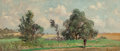 Fine Art - Painting, American:Contemporary   (1950 to present)  , Edward Lamson Henry (American, 1841-1919). Saturday Afternoon. Oil on board. 3-5/8 x 8-1/4 inches (9.2 x 21.0 cm). Signe...