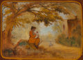 Fine Art - Painting, American, Louis Michel Eilshemius (American, 1864-1941). Mother andChildren, 1917. Oil on board. 29-1/2 x 39-3/4 inches (74.9 x1...