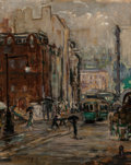 Fine Art - Painting, American, Theresa Bernstein (American, 1890-2002). A Rainy Day, NewYork, 1919. Oil on canvas. 17 x 14 inches (43.2 x 35.6 cm).Si...