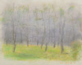 Fine Art - Work on Paper, Wolf Kahn (American, b. 1927). Tree Circle, 2002. Pastel onpaper. 13-1/2 x 16-7/8 inches (34.3 x 42.9 cm) (sheet). Sign...