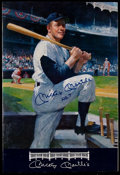 Autographs:Others, Mickey Mantle Signed Oversized Menu. ...
