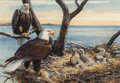 Fine Art - Painting, American, Bob Kuhn (American, 1920-2007). The Way of the Eagle, Reader'sDigest condensed book interior illustration, Winter 1966...(Total: 2 Items)