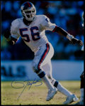 Football Collectibles:Photos, Lawrence Taylor Signed Oversized Photograph. ...