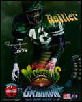 """Football Collectibles:Photos, Ronnie Lott """"Monsters of the Gridiron"""" Signed Oversized Photograph. ..."""