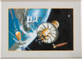Explorers:Space Exploration, Pat Rawlings Original Untitled Painting for NASA, 1983, in FramedDisplay....