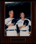 Football Collectibles:Photos, Joe DiMaggio & Mickey Mantle Multi-Signed PhotographDisplay....